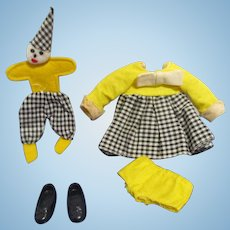 """Vintage Mattel Tutti 1967 #3606 """"Clowning Around"""" Complete Outfit"""