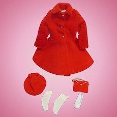 """Vintage Mattel Skipper 1964 #1906 """"Dress Coat"""" Outfit"""