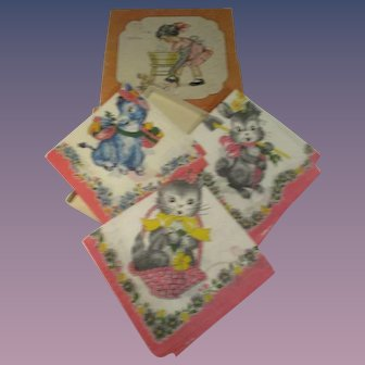 Vintage Child's Hankies Box Set