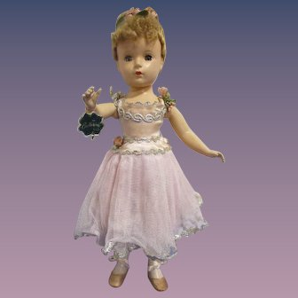 "1949/1950 Madame Alexander ""Nina Ballerina"" Doll All Original with Hand Tag"