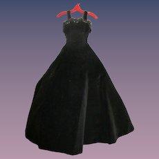 Vintage 1957 Alexander Tagged Cissy Black Gown