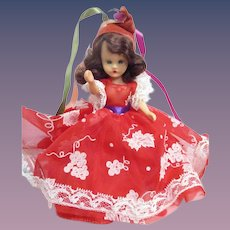 """Nancy Ann Storybook Doll """"A January Merry Maid For New Year"""" Boxed"""