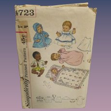 Vintage Simplicity Thumbelina Baby Doll Pattern #4723