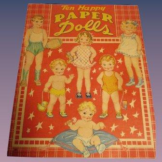 "1947 ""Ten Happy Paper Dolls"" Uncut"