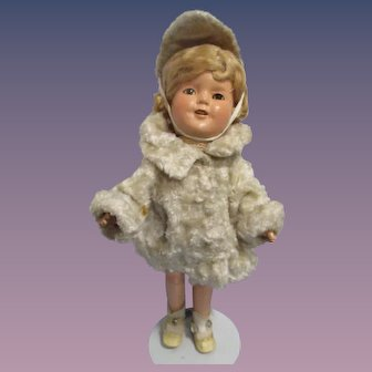 """1930s Ideal 13"""" Composition Shirley Temple Doll"""