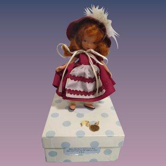 """Nancy Ann Storybook Doll Jointed Bisque """"Elsie Marley"""" MIB"""