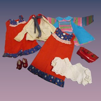 Lot of Vintage Mattel & Others Doll Clothes!