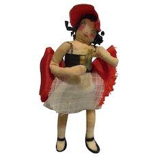 "Vintage 1940s Ravca Fairy Tale ""Little Miss"" Doll All Original"