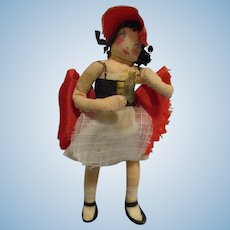 "Vintage 1940s Ravca Fairy Tale ""Little Miss"" Doll All Original"
