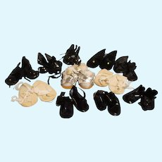 Vintage Lot of 11 Pairs of Doll Shoes