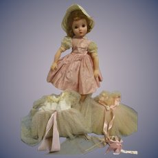 Vintage 1957 Madame Alexander Elise Doll with Tagged Wardrobe