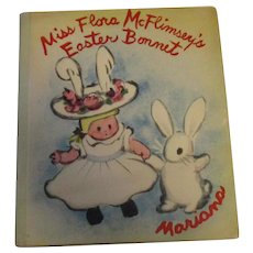 "Vintage 1951 Miss Flora McFlimsey""s Easter Bonnet First Edition Book"