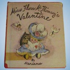 Vintage 1970 Miss Flora McFlimsey's Valentine Book