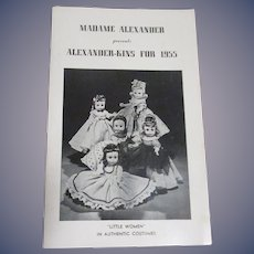 "Vintage Original Madame Alexander ""Alexander-Kins For 1955"" Booklet"