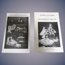 "Vintage Original Madame Alexander ""Alexander-Kins For 1955"" Booklet and Furniture Leaflet"