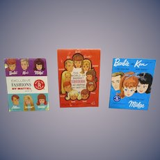 Vintage Original Mattel Barbie Booklets Lot of 3