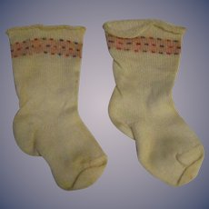 A Pair of Vintage Doll Cotton Socks