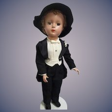 "Vintage Early 1950s Madame Alexander 14"" Wendy Face Groom Doll All Original"