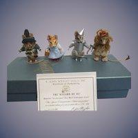 R John Wright MIB 75th Anniversary Set of The Wizard of Oz Mice