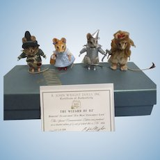 R John Wright MIB 75th Anniversary Set of The Wizard of Oz Mice