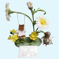 "R John Wright MIB ""Ida & Tom Summer Mice"" from The Mouse Seasons/Summer Series ARTIST PROOF 4/5"