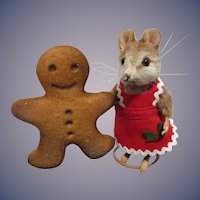 """R John Wright MIB """"Ginger"""" from The Christmas Mice Series"""