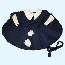 Vintage Tagged Terri Lee Navy Blue Dress