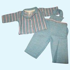 Vintage Tagged Terri Lee Overall & Shirt Set