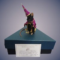 "R John Wright MIB ""Halloween Mouse - Black Magic"""