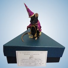 "R John Wright MIB ""Halloween Mouse - Black Magic"""
