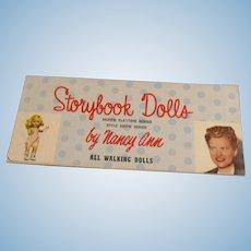 "Vintage 1950's Original ""Muffie & Style Show Dolls"" Booklet"