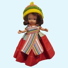 "Vintage Bisque Nancy Ann Storybook Doll"" Mexico"" Around the World Series"