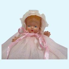 "Vintage Bisque Nancy Ann Storybook Baby Doll ""Hush-A-Bye Series"" #201"