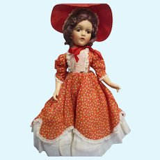 "Vintage Rare 1940s Madame Alexander Composition ""Southern Girl"" Doll All Original"