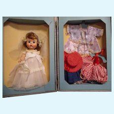 "Vintage 1950s Arranbee ""Littlest Angel Doll"" Bridal Trousseau Trunk Set"