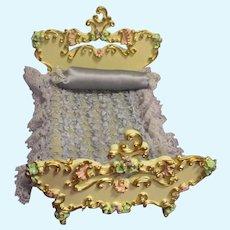 Vintage Spielwaren German Rococo Salon Bed