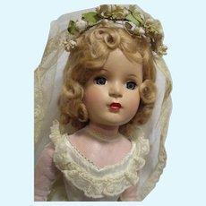Vintage Rare 1950s Madame Alexander Margaret Bride Doll Tagged Original Ensemble