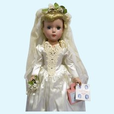"Vintage 1952 Madame Alexander ""Everyone Loves a Bride"" Doll All Original"