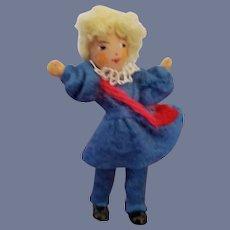 Vintage Rare German Baps Little Girl Doll