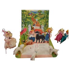 "Vintage 1940's Children's Nursery Rhyme ""Baa Baa Black Sheep"" POP Up Book by Geraldine Clyne"