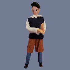 Vintage German Baps Rare Man Doll
