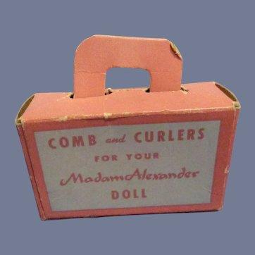 Vintage Madame Alexander Comb and Curler Box All Original