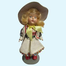"Rare Vogue 1950 Strung Ginny ""Cowgirl"" Doll All Original"