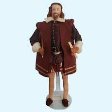 "Vintage Liberty of London ""William Shakespeare"" Doll All Original with Tag"