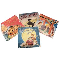 Vintage 1940's Children's Nursery Rhyme POP Up Books by Geraldine Clyne Lot of 4