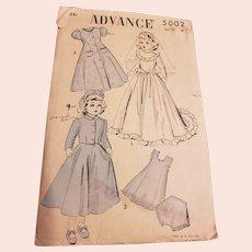 Vintage Advance Doll Pattern #5002
