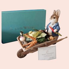"""R John Wright Beatrix Potter's """"The Garden Wheelbarrow"""" MIB!"""