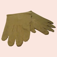 Antique Leather Fashion Doll Gloves
