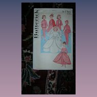 "Butterick Vintage 10 1/2"" Doll Pattern - High Heeled Fashion Dolls!"