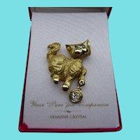 Cute Golden Cat Brooch In Original Box - Gigis Accessories by Louis Giusti